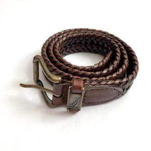 Nautica Boys Leather Weave Belt XL 12/16